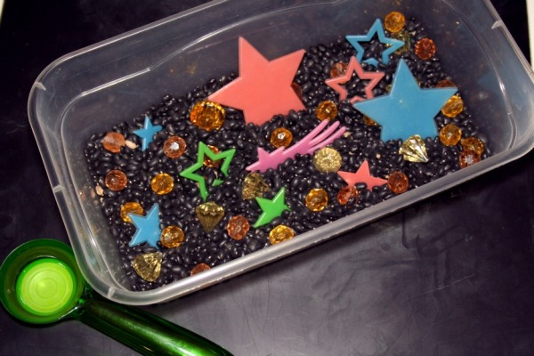 Starry Night Sensory Bin