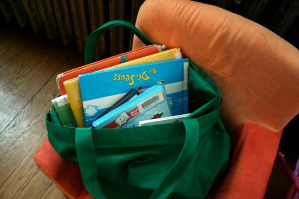 bag full of library books
