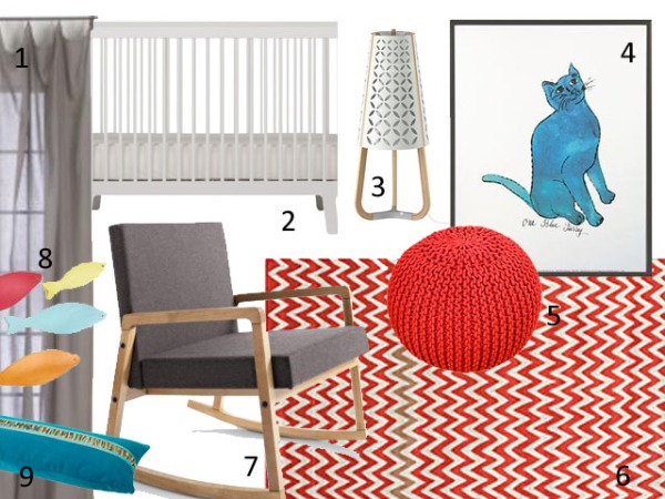 Mood Board - Shared Chevron Room